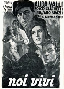 Movie poster for Noi Vivi (We the Living) Italian pirated version
